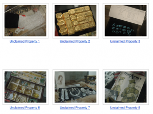Examples of Unclaimed Property from Safe Deposit Boxes